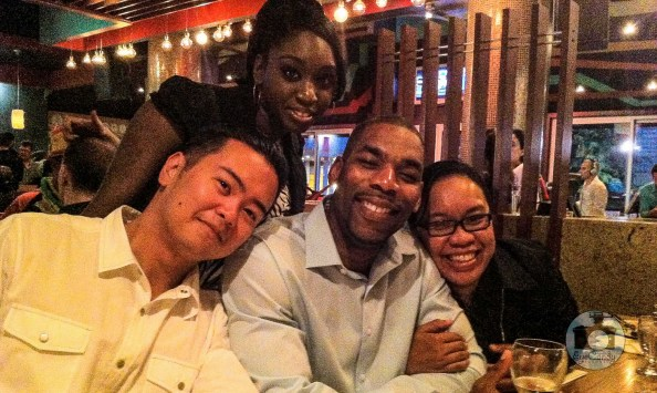 From L to R: Ray, Janice, Dwayne and me :)