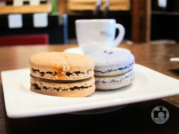 Petit Thuet Macaron, Salted Caramel and Lavender Cheesecake