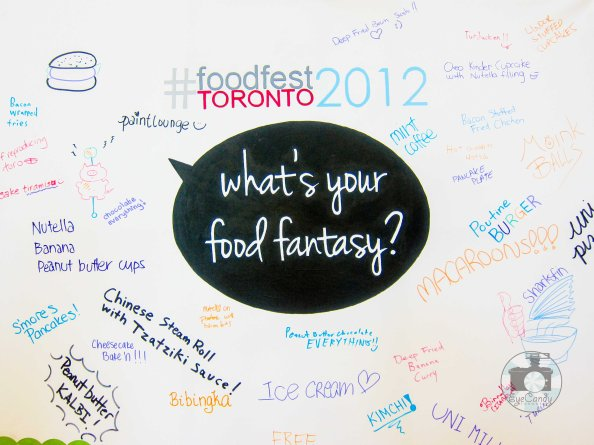 TOFoodFest2012 What's Your Food Fantasy